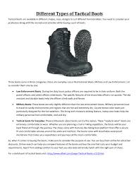 different types of tactical boots by wendy green issuu