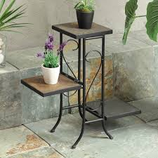 Folding Bakers Rack Deer Park Ironworks 3 Tier Flower Plant Stand Tiered Plant