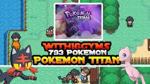 pokemon fan games online new pokemon fan game with 790 pokemons pokemon titan gameplay