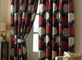 white and red kitchen curtains ruffled valance with red u0026