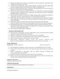 Technical Resume Summary Examples by Cardiovascular Tech Resume