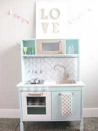 ikea duktig play kitchen makeover hack miss audrey sue