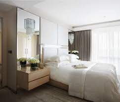 park mirrored bedside bedroom contemporary with glass sconce