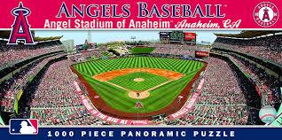 Anaheim Zip Code Map by Amazon Com Masterpieces Mlb Anaheim Angels Stadium Panoramic