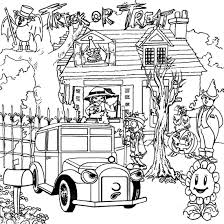 Halloween Coloring Pages Adults Free Halloween Coloring Pages Haunted House 1 Arterey Info