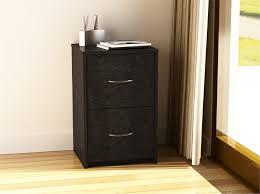 ameriwood furniture 2 drawer file cabinet in black ebony ash