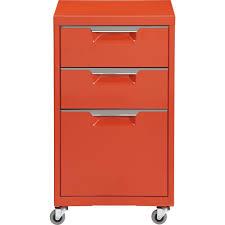 cb2 tps bright orange file cabinet domino