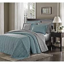 Oversized Floor L Blue Oversized Bedspread King Geometric Pattern Oversize Floor