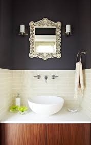 interior gorgeous bathroom wall decoration with silver framed