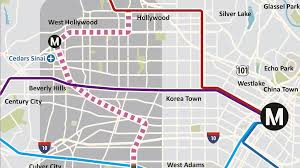 Redline Chicago Map by West Hollywood Refusing To Let Metro Rail Pass It By Curbed La
