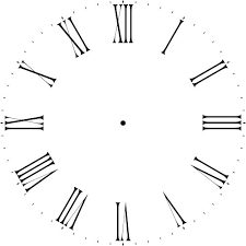 roamn numeral thin numeral 12 40 clockface wall stencil choice of sizes