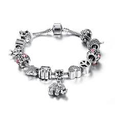 fashion stone bracelet images Fashion stone elephant stainless steel charm bracelet free jpg