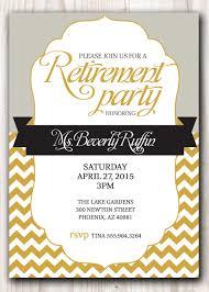 retirement reception invitation templates party invitation