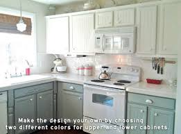 kitchen cabinets different colors upper lower cabinets different colors jpg 500 371 home ideas