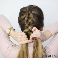 hair tutorial how to do a dutch braid hair tutorial for beginners luxy hair