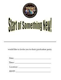 musical high school graduation invitations