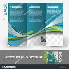 architecture interior designer trifold mock brochure stock vector