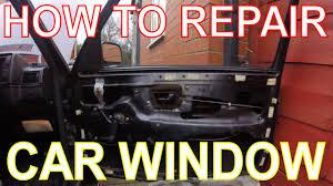 how to repair a car window replacing the window winder mechanism