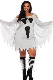 cosplay halloween ghost print jersey plus size dress wholesale