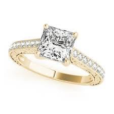 princess cut gold engagement rings yellow gold engagement rings 14k 18k diamonds cz