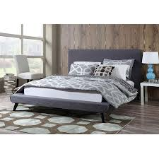 nord modern gray linen platform bed eurway furniture