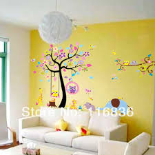 Decals For Walls Nursery by New Wholesale Big Size Large Owl Tree Forest Zoo Wall Sticker