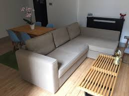 corner sofa bed with chaise long and storage ikea manstad