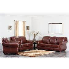 semi aniline leather sofa abbyson living sk 2251 brn 3 2 1 houst premium semi aniline leather