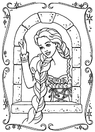 barbie rapunzel coloring pages olegandreev me