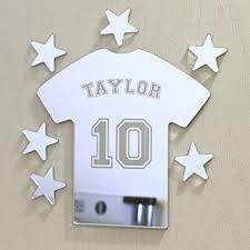 plaque pour porte de chambre laserables miroir personnalisé en forme de t shirt de plaque