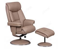 gfa biarritz leather swivel recliner chair