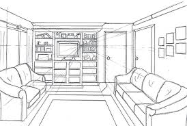 draw room layout how to draw a living room one point perspective living room drawing