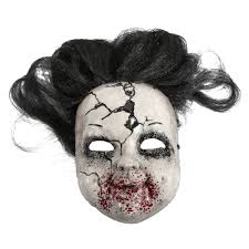 halloween baby face mask terror hair halloween mask creepy carrie