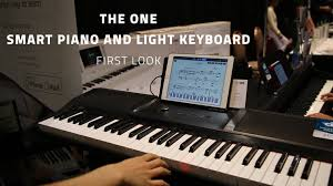 keyboard that lights up to teach you how to play the one smart piano and light keyboard first look youtube