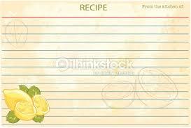 old fashioned recipe card template lemons vector art thinkstock