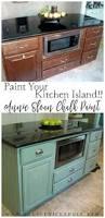 kitchen island makeover duck egg blue chalk paint blue chalk