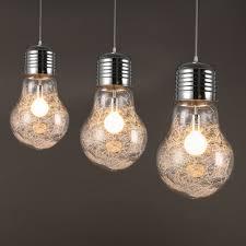 big bulb pendant light modern creative restaurant bar glass
