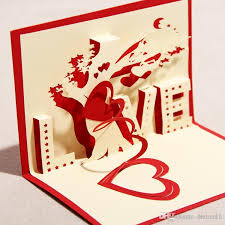 newest 3d handmade greeting cards valentine u0027s day love tree art