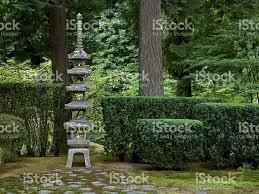 japanese garden sapporo pagoda lantern evening candles portland