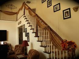 Handrail Christmas Decorations Staircase Railing Decor Ideas U2013 Country Craft Corner