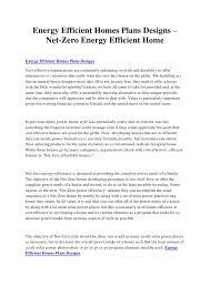 energy efficient homes plans designs u2013 net zero energy efficient home