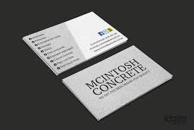 concrete business cards business card design melbourne cintosh concrete