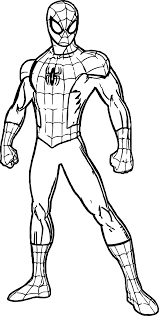 spidey spider man coloring page wecoloringpage