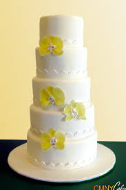 buttercup orchids wedding cake cmny cakes