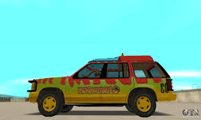 jurassic park tour car ford explorer jurassic park for gta san andreas