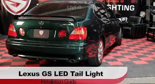 jdm lexus gs300 spyder auto installation 1998 2005 lexus gs300 gs400 led tail