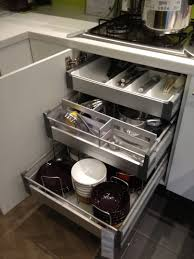 Kitchen Cabinets Slide Out Shelves Kitchen Smart Kitchen Storage Ideas With Stainless Steel Pull Out