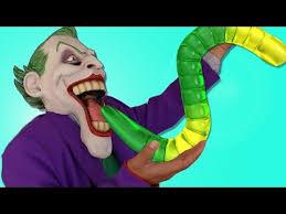 mickey mouse joker battle giant gummy worm chase