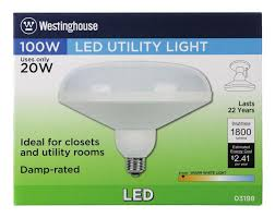 20 Watt Led Light Bulb by Westinghouse Dlr64 Utility 20 Watt Replaces 100 Watt Medium Base