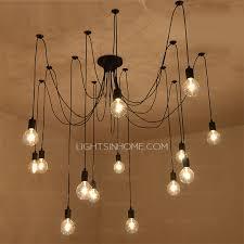 Bar Pendant Lighting Creative 14 Light Bar Pendant Lights In Black Wrought Iron